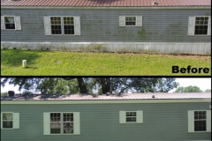 Spring River Pressure Wash Before and After