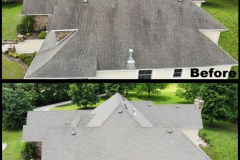 Roof Pressure Wash Before and After