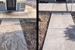 High Traffic Sidewalk Pressure Wash